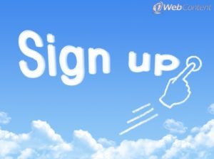 Get readers to sign up with quality web content.