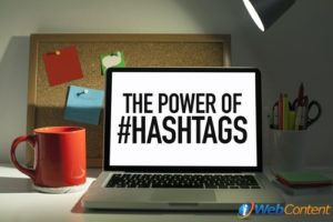 Talk to social media content writers about the proper use of hashtags.