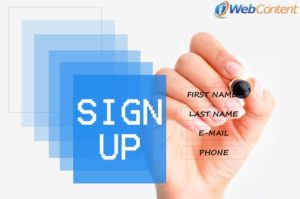 Get visitors to sign up when you create a landing page.