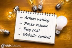 Create quality content for a website to ensure success.