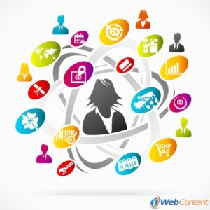 Find a web content writer to help with social media.
