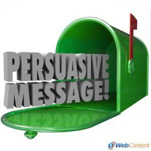 Create a persuasive message with the help of a professional content writing service.